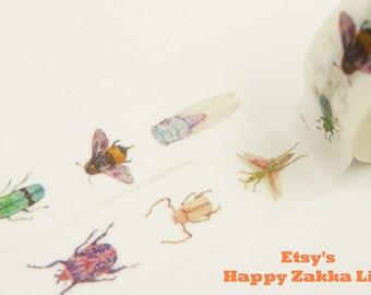 Japanese Washi Masking Tape - Insect - 11 yards