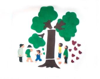 Felt Story - The Giving Tree - Felt Board Flannel Board Story Set - Montessori Toys