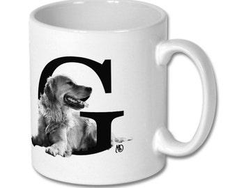 G for Golden Retriever Dog Mug