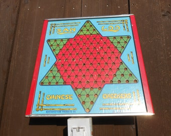 Vintage San Loo Chinese Checkers Game Board