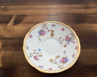 Royal Stafford bone China violets pompadour saucer great condition no chips!