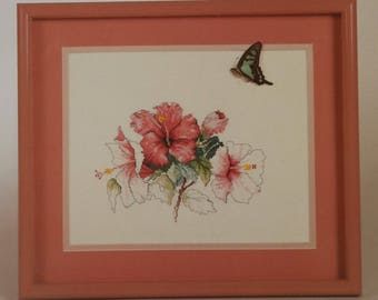 Counted Cross Stitch Pattern   Floral   Hibiscus