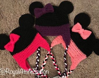 Minnie (or Mickey) Mouse Hat