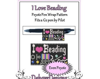 Peyote Beading Pattern (Pen Wrap/Cover)-I Love Beading