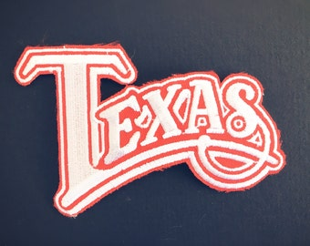 Texas Red/Orange Silver Texas Patch - Vintage, Like-new