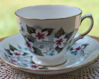 "ROYAL VALE Bone China Teacup and Saucer Set ""8172""  2 Sets Available"