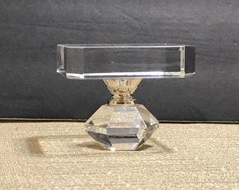 Crystal  Candle Holder Paperweight