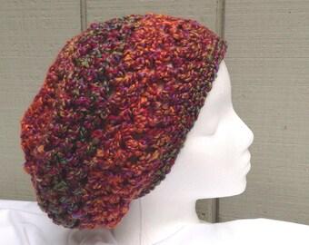 Womens slouchy hat - Crochet beanie - Teens accessories - Crocheted slouchy beanie - Womens hats