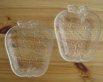 Vintage Apple Daisy Print Glass Dish Set