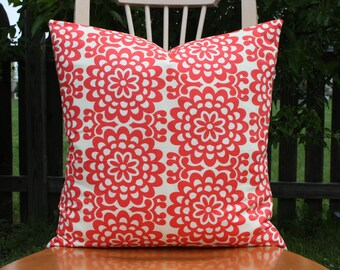 Lotus Wall Flower Cherry Pillow Cover