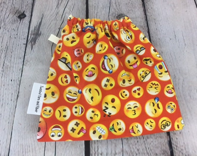 Emoji - Reddish orange, Yarn Ball bag, Yarn Bowl, Yarn Holder