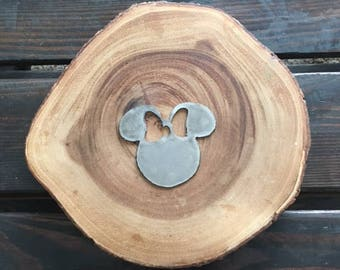 Rustic Recycled Metal Minnie Mouse Steel Disney ornament Holiday Gift