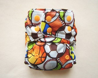Pocket Diaper, Cloth Diapers, One size diaper, Overnight Diaper, Modern, Cloth diaper pattern, boy diaper,soccer diaper,baseball,basket ball