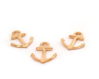 3 Golden Navy anchor
