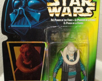 1996 Kenner Star Wars Bib Fortuna with Blaster Power Of The Force New In Package
