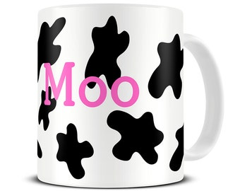 Cow Mug - Personalised Cow Print Coffee Mug - Cow Gifts - MG212