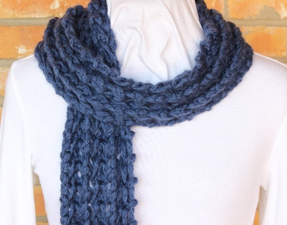 Easy Pattern For Knit Scarf Chunky Knit Scarf Pattern Openwork
