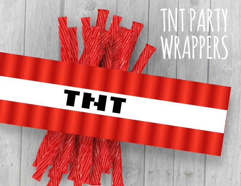 80 Off Sale TNT Wrappers Video Game Mine Theme Party Licorice
