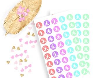 cleaning sticker, life planner sticker for kikki k, filofax or erin condren