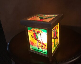 Wood & Stained Glass Lamp