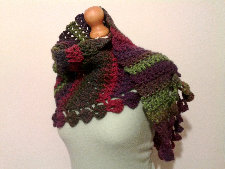 Crochet Scarf Wool Baktus Shawl Winter Fashion Accessory