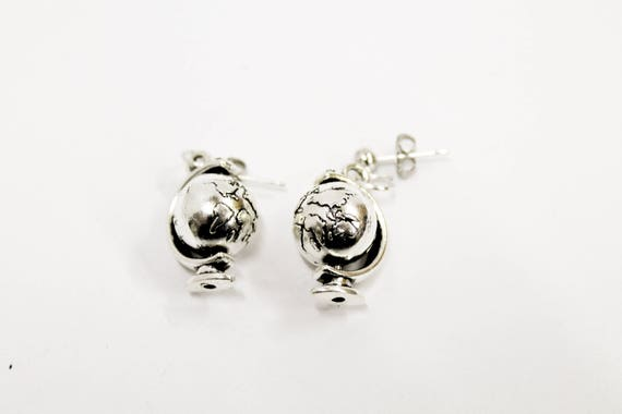 Globe Earrings, Globe Jewelry, Earrings Gift, Geography Jewelry, Geography Teacher Gift, Globe Gifts, World Traveler Gifts, Travel Gift