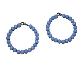 Round beaded finding Earring finding Periwinkle beaded finding 2pcs