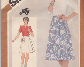 Simplicity 5446 CLEARANCE Vintage Pattern Womens Reversible Skirt Size 14 UNCUT