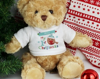 Personalised Christmas Teddy Bear