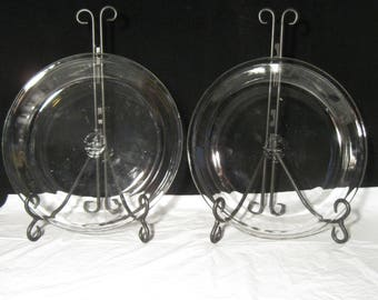 Vintage Fire King #462 Set of Two 10  Pie Plates Pair of Glass Pie & Vintage Fire King Set of Two 10 Pie Plates Pair of Two