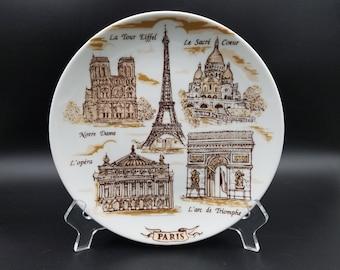 Vintage Paris Souvenir Plate ~ Made in France