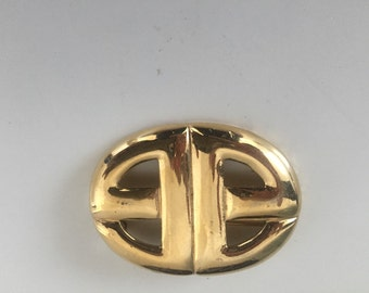"""Vintage givenchy double g""""s broach pendant"""