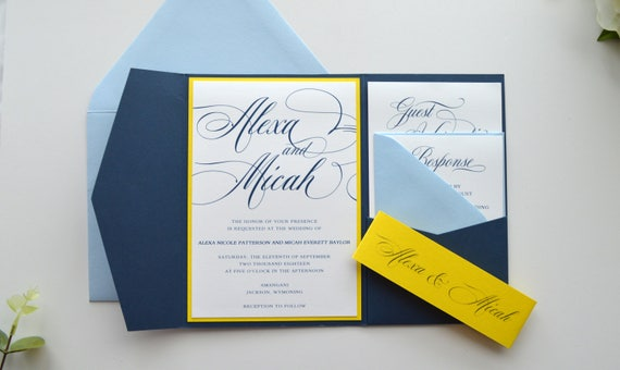 Navy Wedding Invitations Navy Blue Wedding Invitations Blue