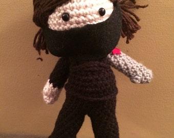 Ready to Ship Winter Soldier Bucky Barnes Inspired Amigurumi Doll