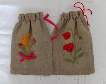 Set of 2 sachets in linen