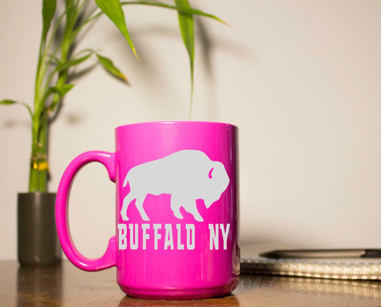 Buffalo NY Buffalo Coffee Mug Etched Coffee Mug Buffalo