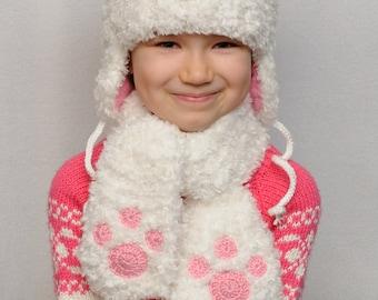 Inspirational kids gift Knit Bear Hat Kids Hats Ear Hat Baby Girl Hats Teddy Bear Beanie Animals Warm Winter Hat gift daughter Bear Hat