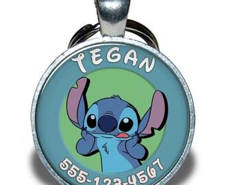 Pet ID Tag - Stitch Lilo and Stitch *Inspired* - Dog tag, Cat Tag, Pet Tag