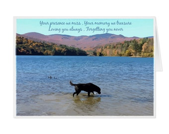 Black Lab Dog Sympathy Card 01YMLMT - Pet Loss - Dog Condolence Cards - Dog Loss Card - Sympathy Quote - Sympathy Card - Condolence Card
