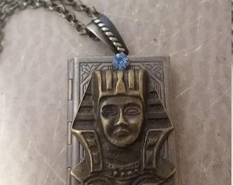 Egyptian Necklace, King Tut Locket Necklace, Egyptian Jewelry, Ramesses Locket Necklace, Egyptian Locket Necklace, Egyptian Jewelry