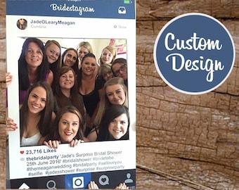 Apoyo del marco de Instagram, grande Instaframe, Social Media, diseño de encargo, boda
