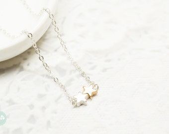 Star necklace, star charm necklace, gold star, silver star, silevr necklace,charm necklace, silver necklace,cute necklace, dainty necklace