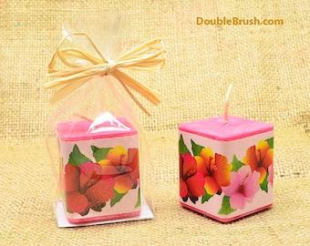 Hibiskus Kerze Hawaiian Party gefallen Hawaiian Kerze tropischen Kerze Hibiskus Geschenk Hibiscus gefallen Duftkerze Hibiscus Hochzeit gefallen