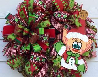 Whimsical Elf Wreath, Christmas Wreath, Best Door Wreath, Holiday Wreath, Holiday Decor, Front Door Wreath, Winter Wreath, Christmas decor