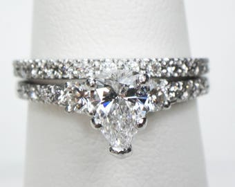 Scott Kay Diamond Wedding Ring Set Platinum Engagement Ring Wedding Set Diamond Engagement Ring Matching Wedding Band