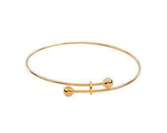 Adjustable Gold Plated Bangle Bracelet (1321)