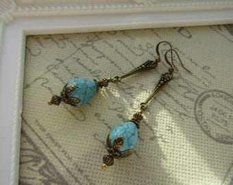 Turquoise Vintage Style Earrings