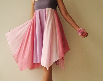 Umbrella...Pink Tone Cotton dress