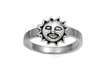 Children's Sterling Silver Sun Ring (R106)