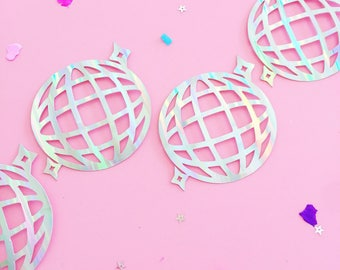 Disco Ball Garland/ Holographic/ Iridescent/ Hen Party/ 30th Birthday/ Baby Shower/ Gender Reveal/ Banner/ Bride Tribe/ Team Bride